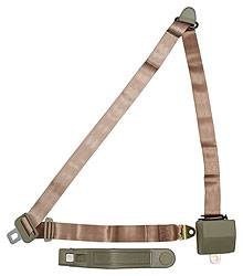 Allstar Performance - Allstar Performance Seatbelt 3-Point Retractable Tan