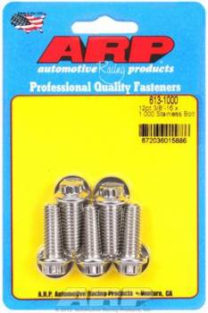 ARP - ARP Stainless Steel Bolt Kit - 12 Point (5) 3/8-16 x 1.000
