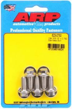 ARP - ARP Stainless Steel Bolt Kit - 6 Point (5) 3/8-16 x .750