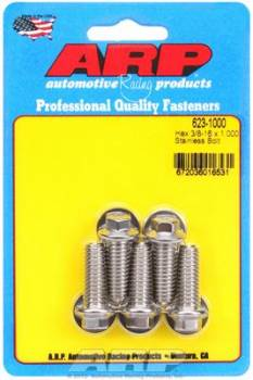 ARP - ARP Stainless Steel Bolt Kit - 6 Point (5) 3/8-16 x 1.000