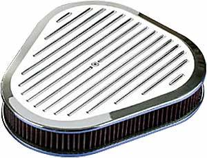 Billet Specialties - Billet Specialties Triangle Air Cleaner Assembly - Polished - Ball Milled Design - 2 5/16 in. Filter Height