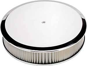 Billet Specialties - Billet Specialties Round Air Cleaner Assembly - 14 in. Diameter - Polished - Plain Design - 3 in. Filter Height