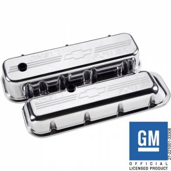 Billet Specialties - Billet Specialties BB Chevy Tall Chevy Power Valve Covers - Polished - BB Chevy - (Set of 2)