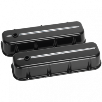 Billet Specialties - Billet Specialties BB Chevy Tall Valve Covers Black