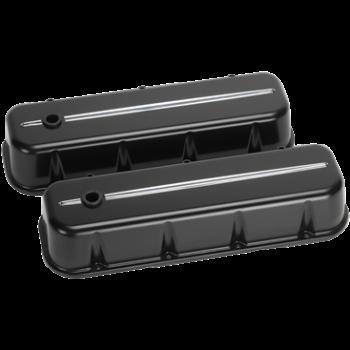 Billet Specialties - Billet Specialties BB Chevy Tall Valve Covers Black