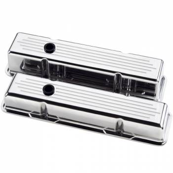 Billet Specialties - Billet Specialties Polished SB Chevy Short Valve Covers - Ball-Milled - SB Chevy - (Set of 2)