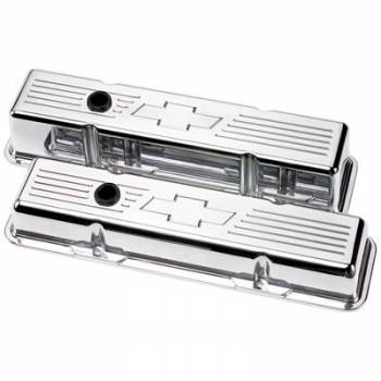 Billet Specialties - Billet Specialties SB Chevy Bowtie Tall Valve Covers