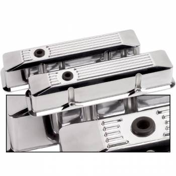 Billet Specialties - Billet Specialties SB Chevy Ribbed Valve Covers - SB Chevy - (Set of 2)