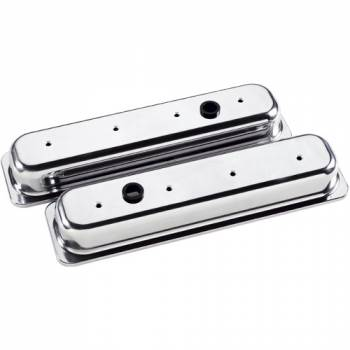 Billet Specialties - Billet Specialties SB Chevy Center Bolt Valve Covers - Stock Height - Polished - SB Chevy - (Set of 2)