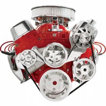 Billet Specialties - Billet Specialties Tru Trac Serpentine System - BB Chevy w/o A/C