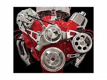 Billet Specialties - Billet Specialties BB Chevy Top Mount Alternator & Power Steering Kit