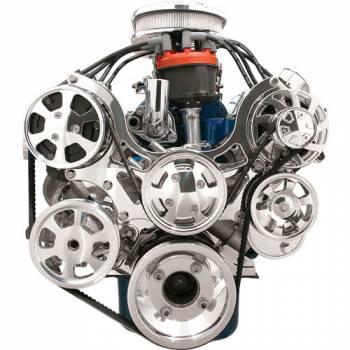 Billet Specialties - Billet Specialties Tru Trac Serpentine System - SB Ford w/ A/C