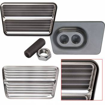 Billet Specialties - Billet Specialties Black Rectangle Brake Pedal Pad - Clutch or Brake - Black Anodized
