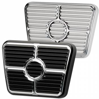 Billet Specialties - Billet Specialties 67-69 Camaro Brake/Clutch Pedal Pad - Black Anodized - Chevy Camaro/Pontiac Firebird