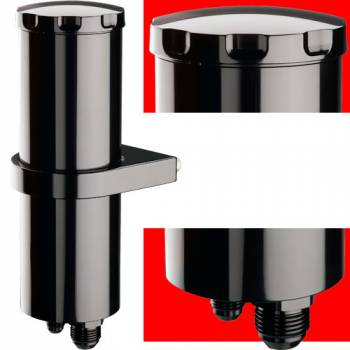 Billet Specialties - Billet Specialties Power Steering Reservoir - Black Anodized - 15 oz. - -8 AN/-10 AN Male fittings Included