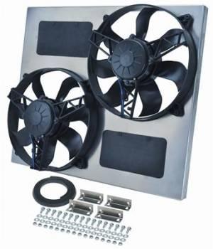 Derale Performance - Derale Dual Radiator Fan w/ Aluminum Shroud Assembly