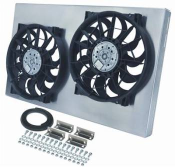 Derale Performance - Derale Dual Radiator Fan w/ Aluminum Shroud Assembly