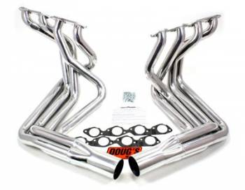 Doug's Headers - Doug's BB Chevy Side Mount Headers - Silver - 63-82 Vette