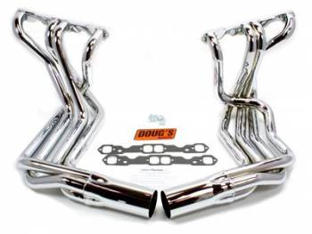 Doug's Headers - Doug's SB Chevy Side Mount Headers - Chrome - 63-82 Vette