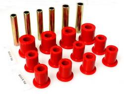 Energy Suspension - Energy Suspension Leaf Spring Bushing Set - Red
