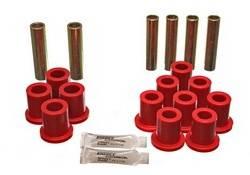Energy Suspension - Energy Suspension Leaf Spring Bushing Set - Red