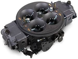 Holley Performance Products - Holley Ultra Dominator Carburetor - 1050 CFM 4500 Series - Hard Core Gray™ w/ Black Metering Blocks & Base Plate