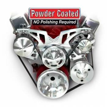 March Performance - March Performance SB Chevy Style Track Pulley Set Alternator Air Conditioner w/ Power Steering