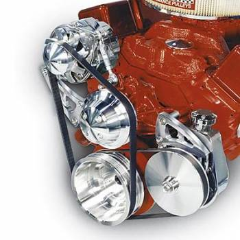 March Performance - March Performance SB Chevy Long Water Pump Serpentine Coversion Pulley Kit