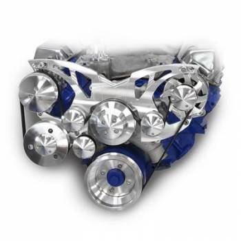 March Performance - March Performance BB Ford Style Track Pulley Set Alternator Air Conditioner w/ Power Steering