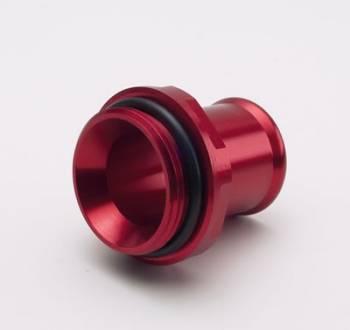 """Meziere Enterprises - Meziere 1.25"""" Hose Water Neck Fitting - Red"""