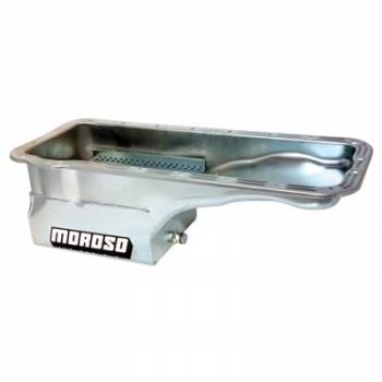 Moroso Performance Products - Moroso Ford FE Stainless Steel Oil Pan - 7 Qt. Front Sump