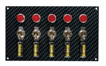 Moroso Performance Products - Moroso Fiber Design Switch Panel - Black/Black