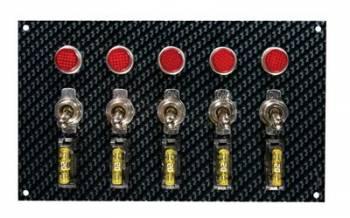 Moroso Performance Products - Moroso Fiber Design Switch Panel - Black/Black