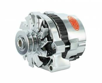 Powermaster Motorsports - Powermaster 140 Amp Alternator Chrysler w/ Spacer Chrome