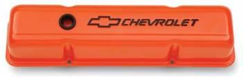Proform Performance Parts - Proform SB Chevy Valve Covers - Tall w/ Baffle - Orange