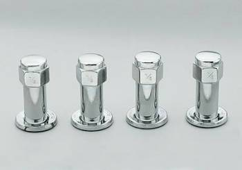 "Weld Racing - Weld 7/16"" RH Chrome Lug Nut (4 Pack)"