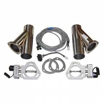 """Pypes Performance Exhaust - Pypes Performance Exhaust 2.5"""" Dual Exhaust Cutout Kits (Set of 2) w/ YPipe"""