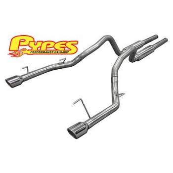 "Pypes Performance Exhaust - Pypes Performance Exhaust 2005-10 Mustang 4.6L 2.5"" Mid Muffler Exhaust Syst"