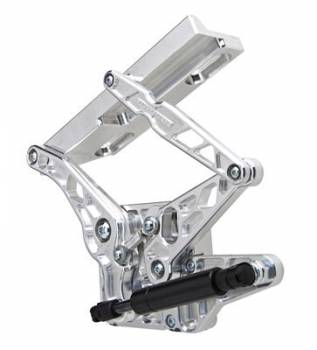 Ringbrothers - Ringbrothers 67-68 Mustang Hood Hinge Kit Air Frame Natural For Steel Hoods