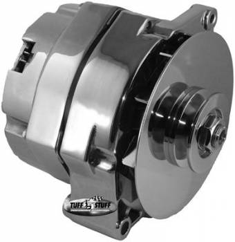 Tuff Stuff Performance - Tuff Stuff GM Alternator 80 Amp External Regulator Chrome