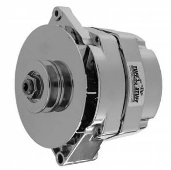 Tuff Stuff Performance - Tuff Stuff GM Alternator w/ Internal Regulator- 80 AMP- Chrome- 1-Wire