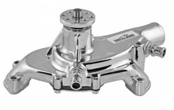 Tuff Stuff Performance - Tuff Stuff BB Chevy Short Water Pump Polished Reverse Rotation