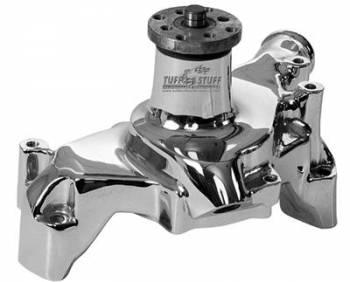 Tuff Stuff Performance - Tuff Stuff SB Chevy Aluminum Long Water Pump Chrome