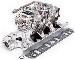 Edelbrock - Edelbrock RPM Air-Gap Dual-Quad Intake Manifold / Carburetor Kit - For Performer RPM AirGap