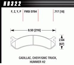 Hawk Performance - Hawk Disc Brake Pads - SuperDuty w/ 0.717 Thickness