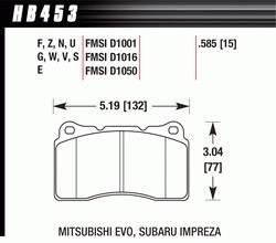 Hawk Performance - Hawk Disc Brake Pads - Performance Ceramic w/ 0.585 Thickness