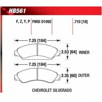 Hawk Performance - Hawk Disc Brake Pads - LTS w/ 0.710 Thickness