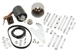 Mr. Gasket - Mr. Gasket Electric Water Pump Drive Kit - Includes Heavy-Duty Electric Motor / Mounting Bracket / Extra Long Bolts / 10 Spline Pulleys / Drive Belt / Wiring / Switch