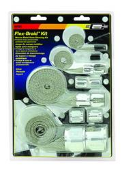 Mr. Gasket - Mr. Gasket Flex-Braid Hose Sleeving Kit - Silver