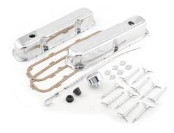 Mr. Gasket - Mr. Gasket Chrome Dress-Up Kit - Includes 2 Valve Covers and Gaskets / Dipstick and Tube / 1 Push-On Hold Down Clamp / Wing Bolts / Grommets